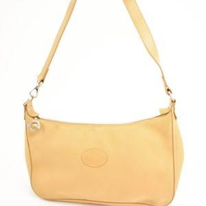 LONGCHAMP: Beige, Leather & Logo Shoulder Bag (mq)